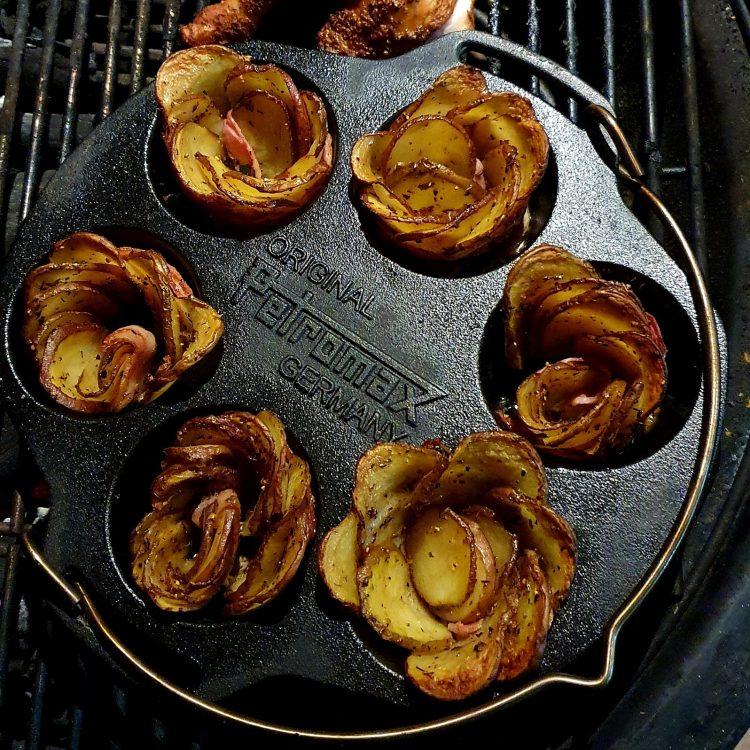 Aardappelroosjes in muffinvorm